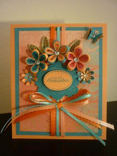 Handmade Greetings Paper Quilling Mother's by FromQuillingWithLove