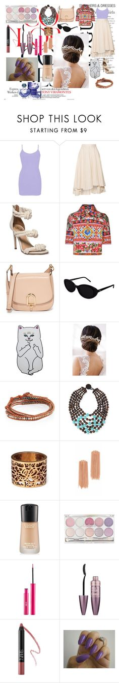 """Without."" by it-srabina ❤ liked on Polyvore featuring BKE, Miguelina, Dolce&Gabbana, MICHAEL Michael Kors, Roberi & Fraud, Samsung, Brides & Hairpins, Chan Luu, Viktoria Hayman and Ralph Lauren"