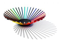 36 pencil bowl  Use the same design to finish that clock, or make a spiky ball out of aluminum tubing :) or out of pencils!