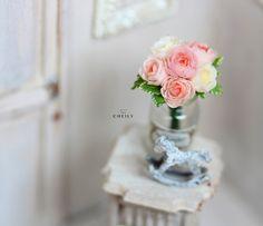 Dollhouse miniature flowers- Dream by CheilysMiniature on Etsy
