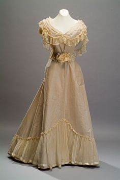 Evening Dress   c. 1895   -   From The Duseo de Museo de Historia Mexicana