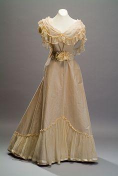 Evening Dress   c. 1895   -   From The Duseo de Museo de Historia Mexicana