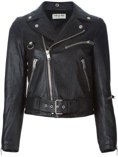eed0f9b038c Saint Laurent | Black Classic Biker Jacket | Lyst Black Biker Jacket,  Riders Jacket,