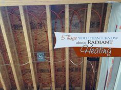 home renovation radiant heating, hvac Radiant Heating System, Cool Garages, Things To Know, 5 Things, Radiant Floor, Dream Home Design, Green Building, Building Ideas, Heating And Cooling