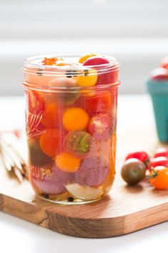 If you're looking for a quick way to preserve a bunch of cherry tomatoes, pickling is a unique way to put them to good use.