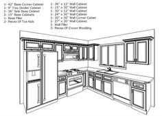 1000 ideas about 10x10 kitchen on pinterest white for Kitchen cabinets 10 x 12