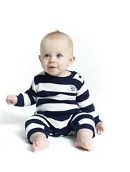 Available instore now! Luxuriously soft and lightweight bodysuit fine knit, made from100% soft eco friendly bamboo. Bamboo Baby buttons on the front so it easily fits over baby's head. Stylish design - a bit different to your everyday bodysuit!