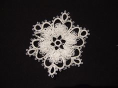 24 tat snowflake #tatting #ornament #ornie