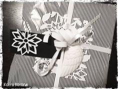 http://kohtakotona.blogspot.fi/, black & white gift wrapping