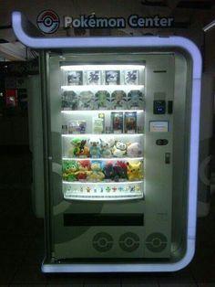 Pokemon vending machine - now I've seen it all!!
