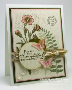 Butterfly Basics for Pals Paper Arts (The Stampin' Schach)  (Pin#1: Flowers: SU-3D/ Dies... Pin+: Nature: Foliage; Sympathy...).