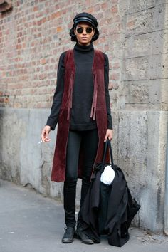 Milan Fashion Week February 2015 | Street styles by Team Peter Stigter | #wefashion