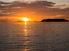 Sunset at our water villa at Reethi Beach Resort, Maldives