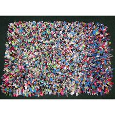 lycra and fleece rag rug