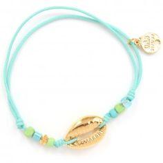 Gas Bijoux Bracelet lien Capri | Bracelet lien coquillage doré