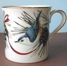 Lenox China Winter Greetings Nuthatch Mug