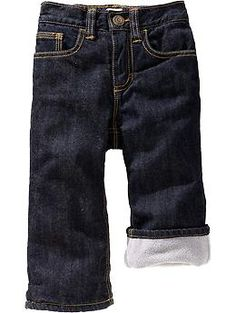 Just got these for Phoenix-- Fleece-Lined Jeans for Baby