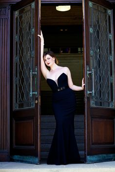 My Cinderella moment in a stunning black Suzanne Neville evening gown.   todreamofdresses.com