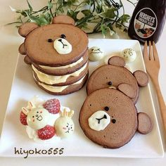 Bear chocolate pancake