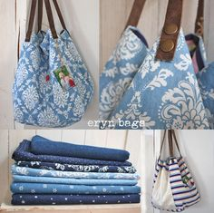 99472220 Roberta Roller Rabbit: Beach Bags - Learn More About Roller Rabbit and Crazy Daisy (A Shop in New Delhi, India) that Carri… Diy Bags Purses, Fabric Purses, Handmade Purses, Handmade Handbags, Best Tote Bags, Accessorize Bags, Boho Bags, Bag Patterns To Sew, Linen Bag