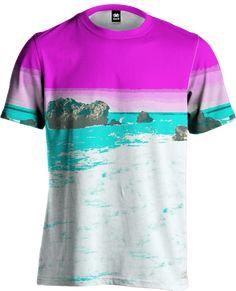 Vintage T-Shirt,Grunge Vibrant Stripes Fashion Personality Customization
