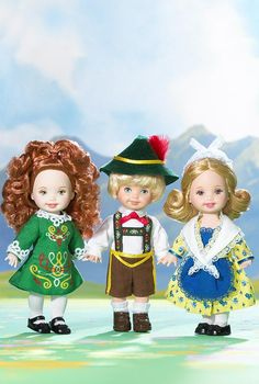 Kelly Doll and Friends- Too cute! Look at the little Irish one!