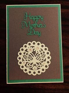 Gray and teal Mother's Day card