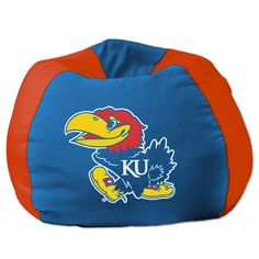 College NCAA Bean Bag Chair NCAA Team: Kansas - http://delanico.com/bean-bag-chairs/college-ncaa-bean-bag-chair-ncaa-team-kansas-589018275/