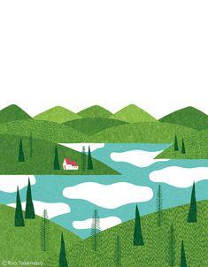 武政 諒 Ryo Takemasa   博報堂健康保険組合の季刊誌『Kenpo News』2014年6月号の表紙イラストレーションを担当しました。 Cover illustration for Kenpo News magazine, June 2014 issue.