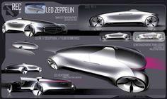 Mercedes-Benz F015 Luxury in Motion Design Sketches