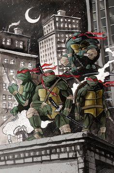 Teenage Mutant Ninja Turtles by Tyler Champion Ninja Turtles Shredder, Ninja Turtles Art, Teenage Mutant Ninja Turtles, Tmnt, Comic Books Art, Comic Art, Gi Joe, D Mark, Geek Art
