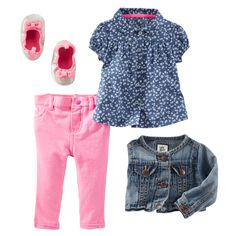 OshKosh Bgosh Toddler Girls Printed Crop Skinny Twills Neon