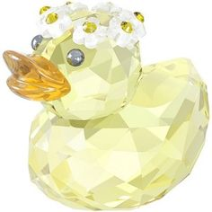 Swarovski Crystal Yellow Charming Daisy Happy Duck