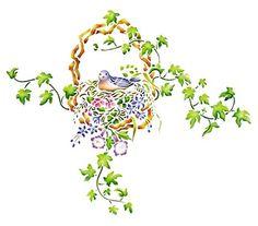 Bird 'N' Nest by The Mad Stencilist