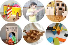 oodles of DIY cardboard stuff to make, not just kid projects. Even practical stuff for home decor!
