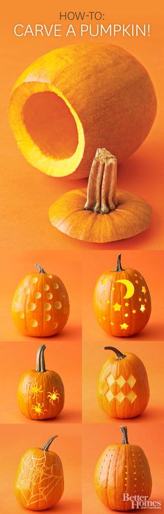 How to carve a pumpkin!
