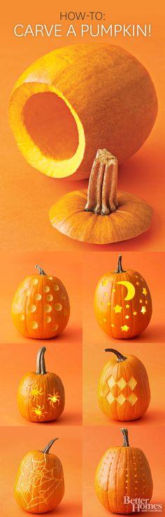 How to carve a pumpkin!
