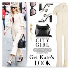 """Kate~"" by drenise ❤ liked on Polyvore featuring moda, Proenza Schouler, H&M, Kara, Valentino, Christian Louboutin, GetTheLook, StreetStyle, jumpsuit i cateyes"