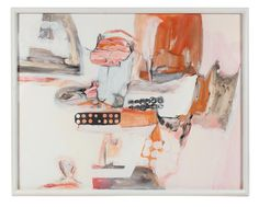 """89128- Gwen Stone, 1967, Watercolor, Gouache, and Tempera on Paper, 29.5""""x23.5"""" Framed"""