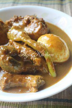Azie Kitchen: Gulai Darat Ayam bersama Telur Rebus Lauk Nasi Dagang