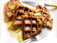 Cook your stuffing in a waffle iron to maximize its crispness.