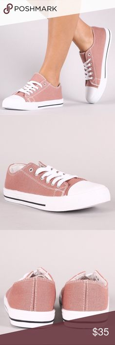 SERA lace up sneakers - MAUVE Super fun vibrant Mauve color canvas sneakers. Super comfy!  Runs true to size. NO TRADE, PRICE FIRM Shoes Sneakers