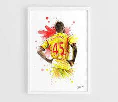 Mario Balotelli Liverpool FC  A3 Art Prints of the by NazarArt