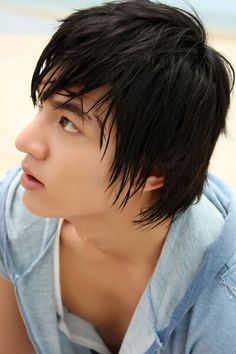 New Korean Hairstyles with Medium Asian Style for Boys from Lee Min Ho