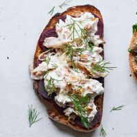 Smoked mackerel with horseradish and beetroot on rye Haddock Recipes, Smoked Mackerel, Arthritis Diet, Slice Of Bread, Sourdough Bread, Beetroot, Rye, 4 Ingredients, Cooking Time