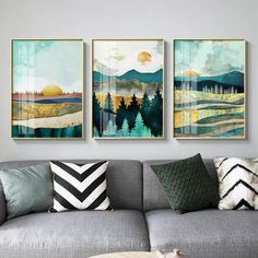 Nordic Sunrise Sunset canvas painting landscape posters and print unique decor wall art pictures for living room bedroom aisle – Wall Decoration Hall Canvas Painting Landscape, Landscape Walls, Landscape Posters, Sunset Landscape, Abstract Canvas, Abstract City, Mountain Landscape, Canvas Art Prints, Wall Prints