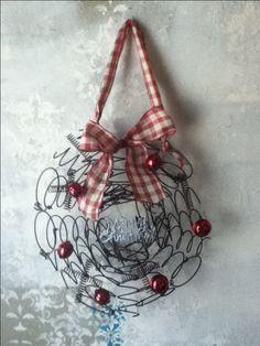 rusty bed springs wreath