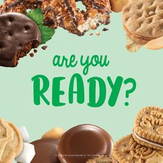 for cookie season post - Suggested Post Copy: My Girl Scout is pumped for Girl Scout Cookie Season! Are you ready? -Ready for cookie season post - Suggested Post Copy: My Girl Scout is pumped for Girl Scout Cookie Season! Are you ready? Selling Girl Scout Cookies, Girl Scout Cookies Flavors, Girl Scout Cookie Sales, Girl Scout Leader, Girl Scout Troop, Brownie Girl Scouts, Girl Scout Cookie Image, Brandy Snaps, Gs Cookies