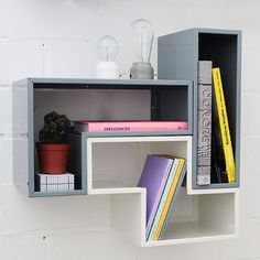 another interesting module shelf. I'm guessing the set up would be similar to a awesome game of tetris.