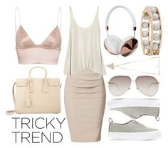"""""""Untitled #271"""" by ginshelyn ❤ liked on Polyvore featuring Eytys, Donna Karan, T By Alexander Wang, Gucci, Yves Saint Laurent, Frends, Givenchy, TrickyTrend, contest and saintlaurent"""